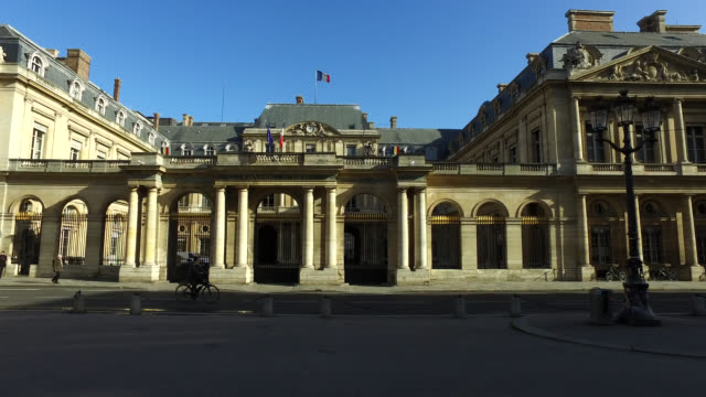 conseil d'etat (the council of state) building. paris - palazzo di giustizia video stock e b–roll