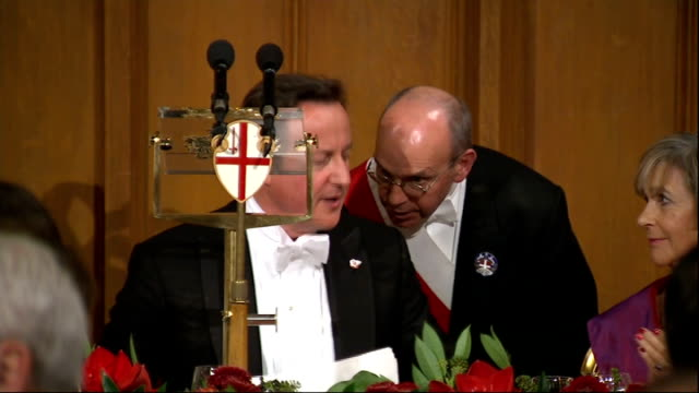conservative backbenchers angry over government signing up to european arrest warrant england london city of london mansion house int prime minister... - lord mayor of london city of london stock videos & royalty-free footage