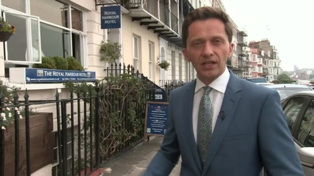 conservative candidate craig mackinlay charged over 2015 general election expenses kent ramsgate reporter to camera - ramsgate stock videos and b-roll footage