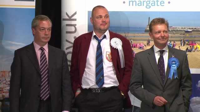 conservative candidate craig mackinlay charged over 2015 general election expenses; lib / 8.5.2015 england: kent: int various shots of returning... - al murray stock videos & royalty-free footage