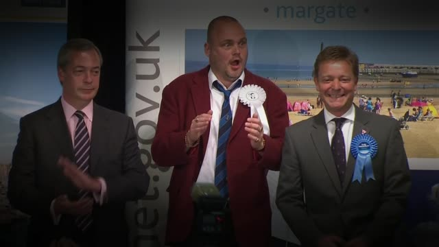 conservative election expenses investigation: kent police given more time to investigate; lib / 8.5.2015 england: kent: margate: int al murray... - al murray stock videos & royalty-free footage