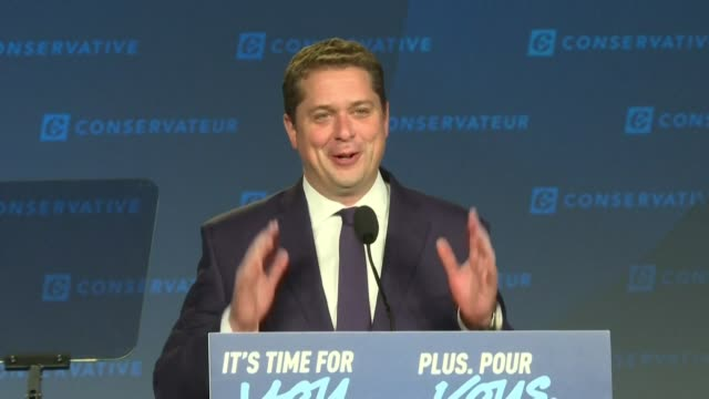 conservative leader andrew scheer arrives at his hq in regina saskatchewan for a combative speech after losing to his liberal rival prime minister... - saskatchewan stock videos and b-roll footage