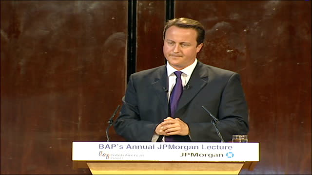 conservative leader david cameron's jp morgan lecture the actions we must take domestically in partnership with other countries could not be more... - deformed stock videos & royalty-free footage