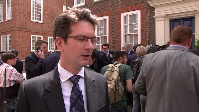 andrea leadsom speech cutaways and interviews steve baker mp interview sot disappointed but andrea leadsom has made the right decision iain duncan... - オーウェン・パターソン点の映像素材/bロール