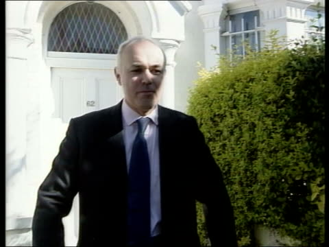 conservative leadership contest - candidates; england: london: ext front door of house of iain duncan smith mp as opened ajar & voice heard saying... - ajar stock videos & royalty-free footage