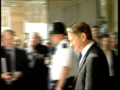 conservative leadership contest candidates itn london michael portillo mp towards past from building ms portillo along to podium - michael portillo stock videos & royalty-free footage