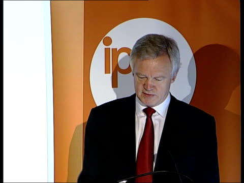 conservative leadership contest: david davis speech on social justice; david davis mp speech sot - the just society for conservatives is one in which... - social justice concept 個影片檔及 b 捲影像