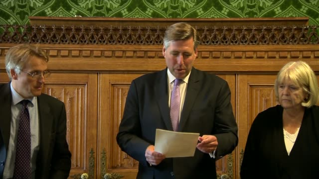 liam fox and stephen crabb out of race england london house of commons int nicki morgan mp and others waiting inside committee room as graham brady... - elimination round stock videos and b-roll footage