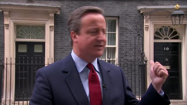 theresa may to be pm as andrea leadsom drops out downing street david cameron mp press statement sot delighted that we will not have a long... - parlamentsmitglied stock-videos und b-roll-filmmaterial