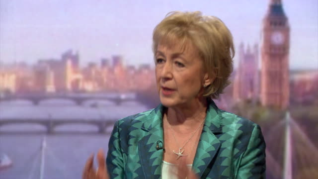 conservative mp andrea leadsom criticising the bank of england for weighing in on the eu debate and that their economic predictions were purely... - communication stock videos & royalty-free footage