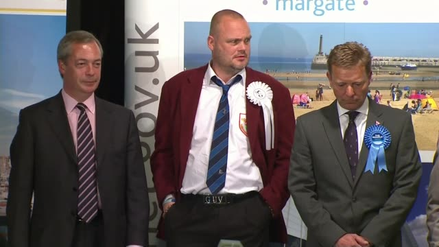 conservative mp craig mackinlay appears in court on election expenses charges; lib / 8.5.2015 england: kent: margate: int returning officer reading... - al murray stock videos & royalty-free footage