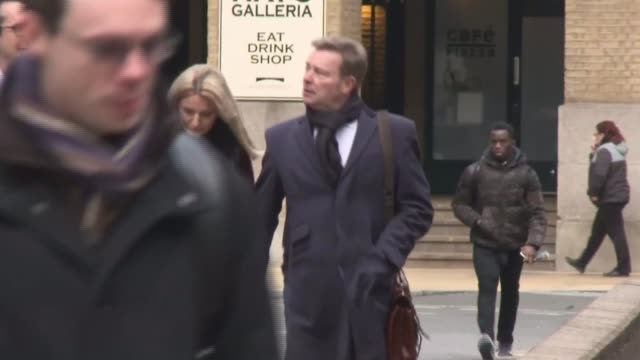 conservative mp craig mackinlay cleared of falsifying election expenses / marion little found guilty of two charges england london southwark crown... - サウスワーク刑事法院点の映像素材/bロール