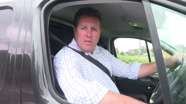 mp not suspended while investigation ongoing england nottinghamshire ext mark spencer mp pulling up in van / interview sot - itv news at ten stock videos & royalty-free footage