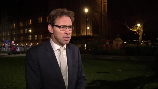 conservative mp tobias ellwood defends theresa may saying she will come out of the confidence vote stronger and condemns what he calls the 'tea... - tea party stock videos and b-roll footage