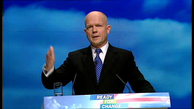 conservative party annual conference 2009: william hague speech; william hague speech sot - our third theme is the deepening of alliances beyond... - co ordination stock videos & royalty-free footage