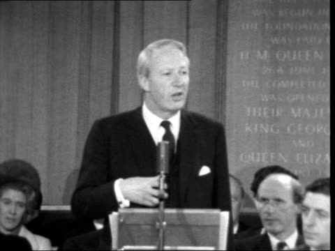 conservative party centenery heath speech ***also london westminster church house ms edward heath former prime minister sof but in the processrest of... - edward heath stock-videos und b-roll-filmmaterial