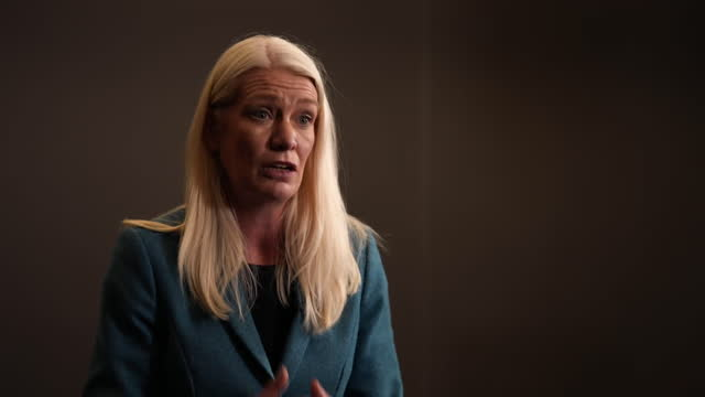 """conservative party co-chair amanda milling apologising for """"any hurt caused by discrimination in the party"""" after the islamophobia report - report document stock videos & royalty-free footage"""