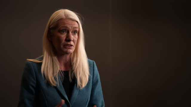 """conservative party co-chair amanda milling saying the party has """"accepted in full"""" all recommendations in the islamophobia report - report document stock videos & royalty-free footage"""