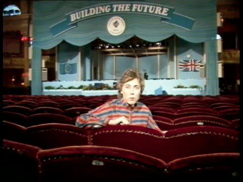day 1 conservative party conference 1983 day 1 england blackpool air/g 'dont sack cecil' banner pulled by plane sof that banner very strong - blackpool stock videos & royalty-free footage