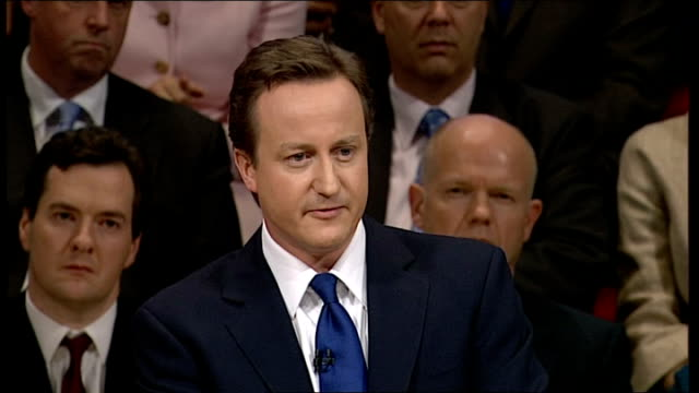 conservative party conference 2008: david cameron speech; - but it's not just the crime; not even the anti-social behaviour. it's the angry,... - social history stock videos & royalty-free footage