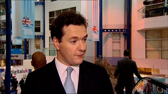 conservative party conference 2010: possible state benefit changes; shots of george osborne mp signing autographs george osborne mp interview sot -... - cut video transition stock videos & royalty-free footage