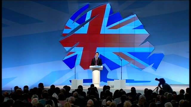 conservative party conference 2011: george osborne speech; osborne speech sot - we're launching new enterprise zones. we're helping unemployed people... - new hire stock videos & royalty-free footage