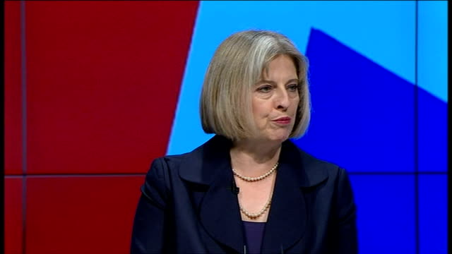 conservative party conference 2011: theresa may speech; theresa may speech sot i wouldn't want to be a criminal if he gets elected. thank you, tim,... - simply red点の映像素材/bロール