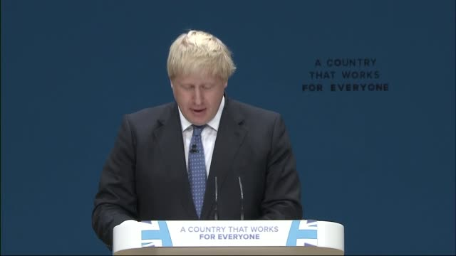 boris johnson speech boris johnson speech continued sot up the creeks and inlets of all the continents of the world go the gentle gunboats of british... - jeremy clarkson stock-videos und b-roll-filmmaterial