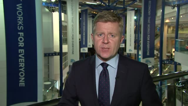 stockvideo's en b-roll-footage met theresa may speech announces article 50 will be triggered by april 2017 reporter to camera/ boris johnson mp speaking briefly to reporters in foyer... - artikel