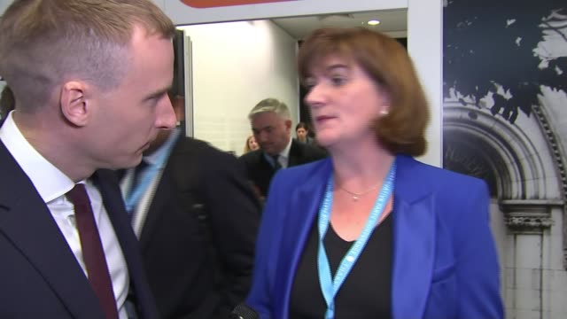 conservative party conference 2019: boris johnson denies grabbing journalist's thigh; england: manchester: int reporter trying to talk to theresa... - thigh stock videos & royalty-free footage