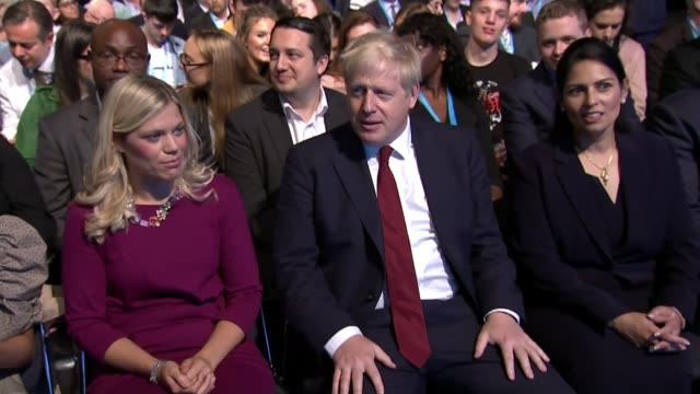 conservative party conference 2019: boris johnson denies grabbing journalist's thigh; england: greater manchester: manchester: int boris johnson mp ,... - thigh human leg stock videos & royalty-free footage