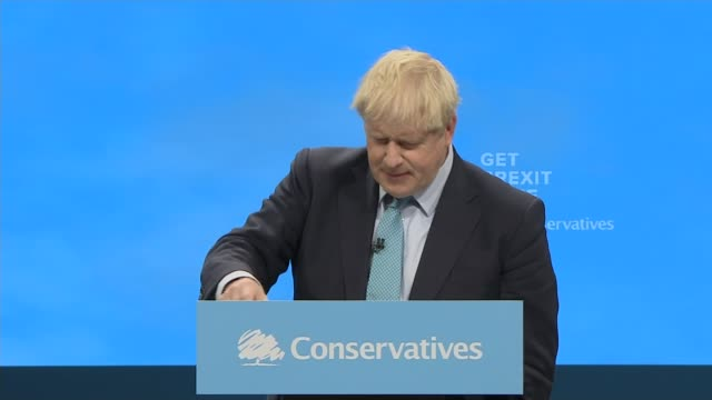 boris johnson outlines new brexit plan in speech england manchester int **music heard sot** photography** boris johnson mp shaking hands with... - preparation stock videos & royalty-free footage