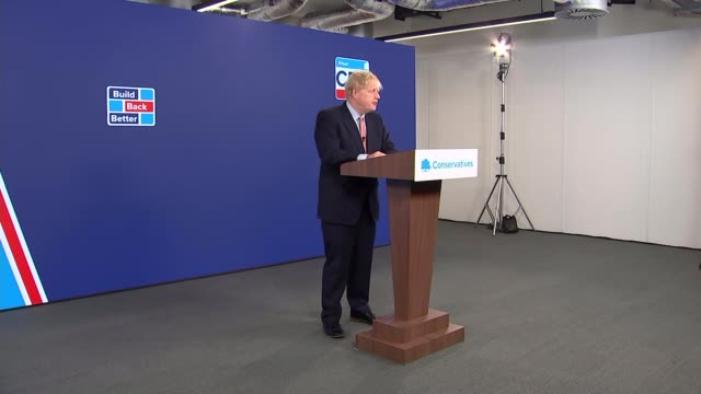 conservative party conference 2020: boris johnson speech - cutaways; england: london: canary wharf: int boris johnson mp entering / cutaways of boris... - other stock videos & royalty-free footage