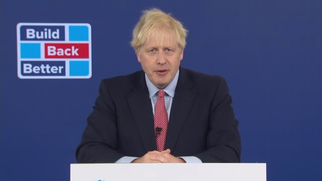 conservative party conference 2020: boris johnson speech; england: london: canary wharf: int boris johnson mp speech sot part 6 of 6. - they, the... - military stock videos & royalty-free footage