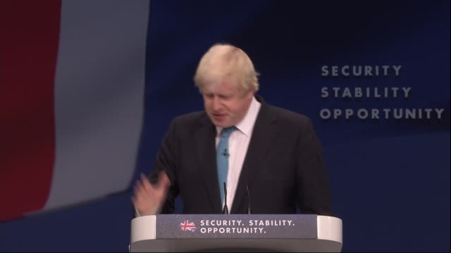 Boris Johnson and Zac Goldsmith speeches Boris Johnson speech SOT because he just didn't think that Labour under Miliband would be on the side of...