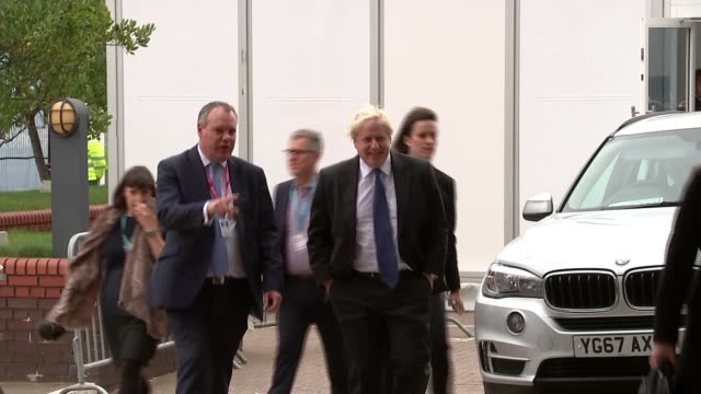 Boris Johnson gives fringe speech criticising Theresa May's Chequers plan ENGLAND West Midlands Birmingham PHOTOGRAPHY*** Boris Johnson MP along...