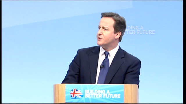 conservative party conference: cameron blames bureaucracy for holding britain back: cameron speech; when we came into office ten months ago, we... - bureaucracy stock videos & royalty-free footage
