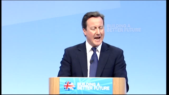 cameron blames bureaucracy for holding britain back cameron speech someone joked to me the other day that the biggest growth industry in britain this... - conference phone stock videos & royalty-free footage