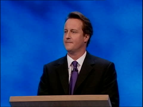 conservative party conference: david cameron first speech; - i've made some mistakes during the past 10 months / i went to a school in my... - 10 seconds or greater 個影片檔及 b 捲影像