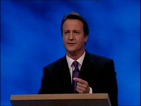 david cameron first speech preparing the ground is just the first stage / now we must show what we will build there / a strong government needs... - prison reform stock videos & royalty-free footage