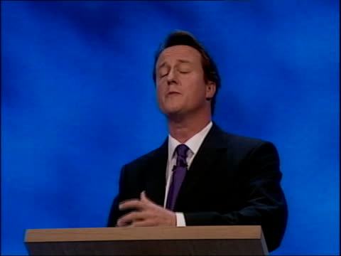 david cameron first speech today people want different things / the priorities are different / safer streets schools that teach a better quality of... - デビッド・キャメロン点の映像素材/bロール
