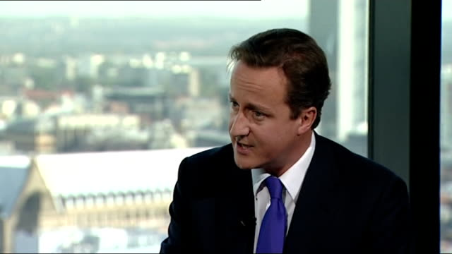 david cameron interview david cameron interview sot [asked why george osborne didn't mention economic growth in his speech] this is the big choice... - cut video transition stock videos & royalty-free footage