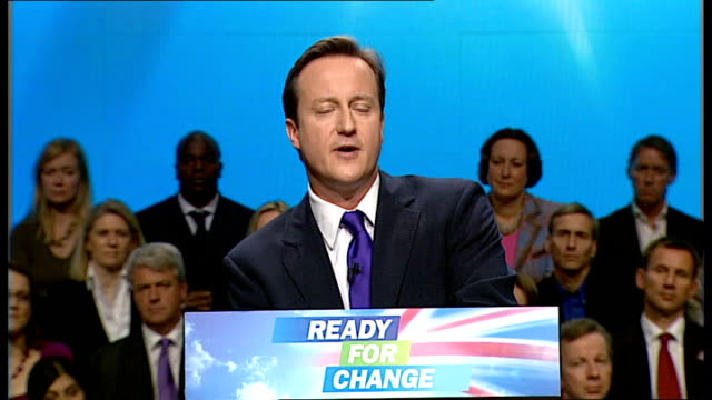 david cameron keynote speech david cameron speech continued sot so if we cut big government back if we move society forward and if we rebuild... - things that go together stock videos & royalty-free footage