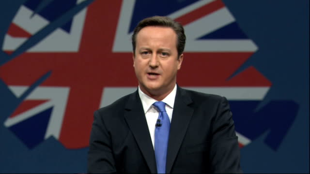 conservative party conference: david cameron speech; and you know – on this, as on everything else, labour will fight us but remember: we are... - hand on heart stock videos & royalty-free footage
