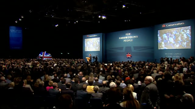 david cameron speech so if labour's plan for jobs is to attack business – ours is to back business regulation – down taxes – cut for businesses... - after life stock videos & royalty-free footage