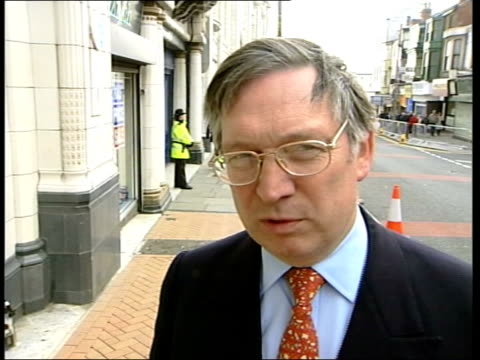 Day 1 Vox pops SOT Richard Hickmet interviewed SOT Really do think the time has come for the leader to stand aside INT MS David Davis MP sitting at...