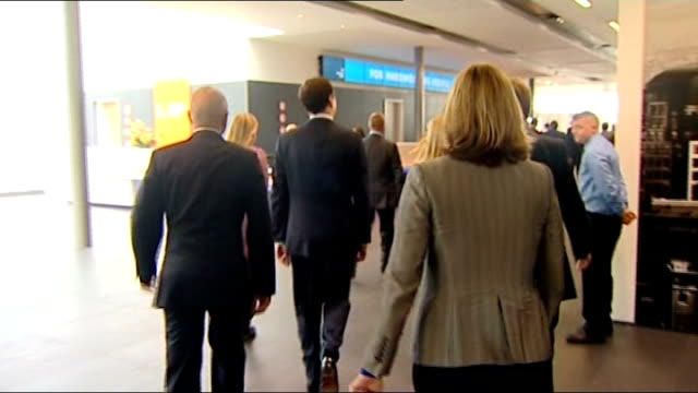 eric pickles george osborne grant shapps and david cameron arrivals at conference england manchester ext eric pickles mp arriving / george osborne mp... - grant shapps stock videos and b-roll footage