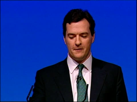 george osborne speech and not just for big companies important as they are but for the small businesses too / you don't need to tell me about the... - rhythm stock videos and b-roll footage