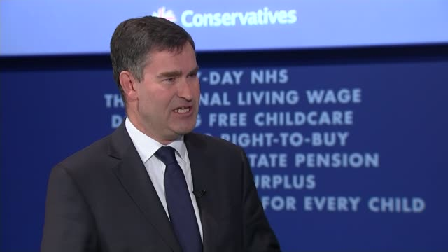 George Osborne speech ENGLAND Manchester INT David Gauke MP interview SOT People work long hours in the UK and that's not really the point I think...