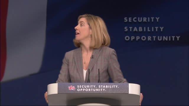 george osborne speech england manchester int andrea jenkyns mp introducing chancellor george osborne mp at the conservative party conference sot... - チャンセラー点の映像素材/bロール